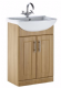 Aqua Chic Bathroom Furniture Basin & Unit 650mm - Natural Oak or White